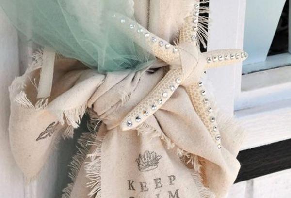 Декоративный подхват для шторы в виде морской звезды
