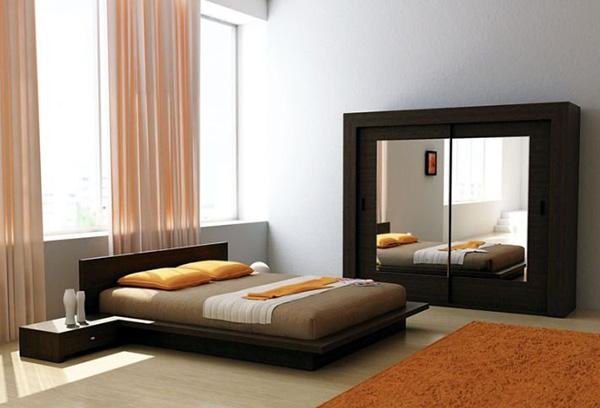 Цветовая гармония гардин и интерьера спальни