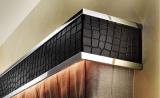 Карниз для штор из искусственной кожи и металла