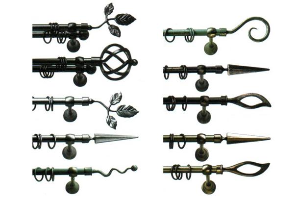 Варианты кованых карнизов для штор