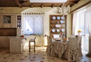 Виды кухонных штор, советы по дизайну кухни