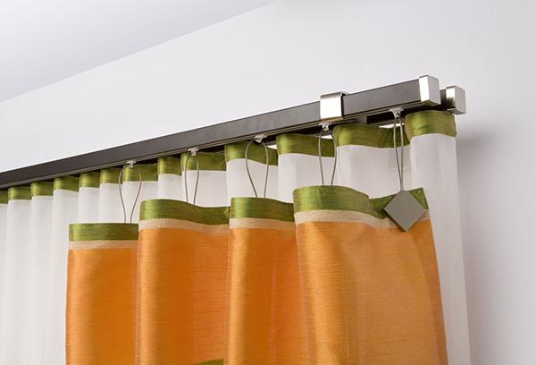 Металлический карниз для кухонной шторы