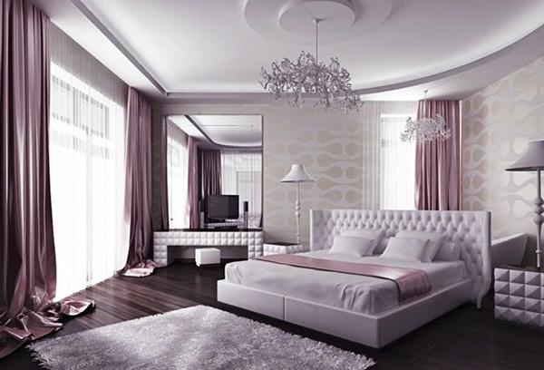 Монохромное цветовое решение интерьера спальни