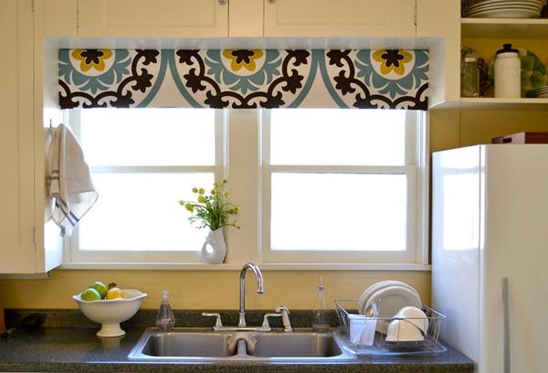 Рулонная штора на кухне