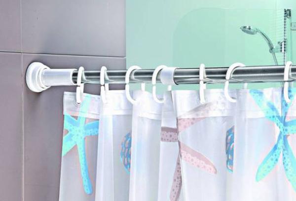 Крепление штанги для шторки в ванной