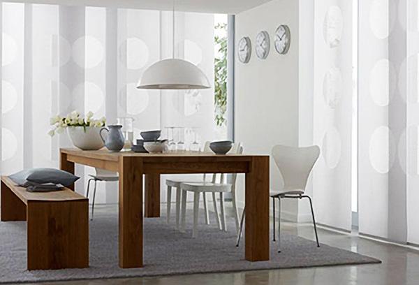 Японские шторы для кухонной зоны
