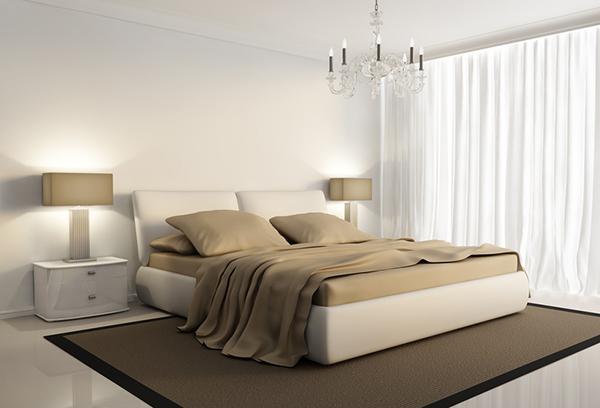 Интерьер спальни в кофейных оттенках