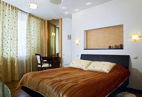 Тюль с растительным узором для спальни