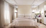 Спальня с легкими занавесками