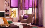 Яркие фиолетовые шторы