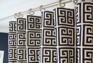 Правила использования греческих штор в современном интерьере