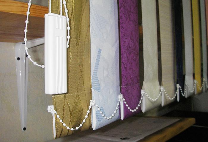Вертикальные ламели из различных тканей