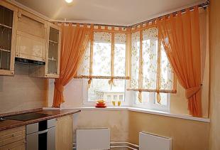 Короткие  шторы на кухню: особенности и правила выбора