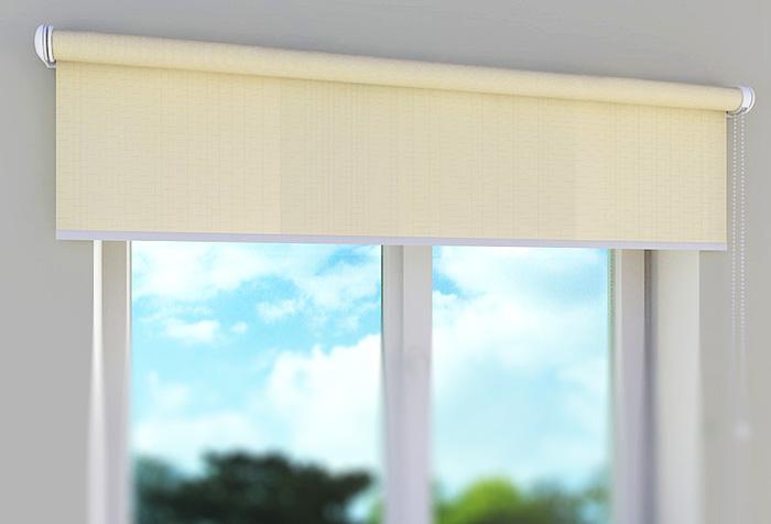 Тканевая роль-штора на все окно