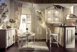 Декор для кухни в стиле прованс: шторы и другие текстильные элементы