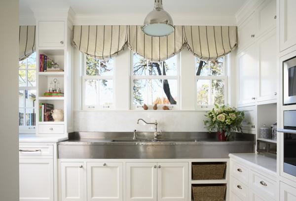 Современный интерьер кухни с элементами стиля прованс