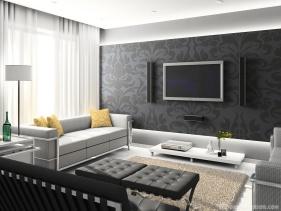 Как подчеркнуть достоинства и скрыть недостатки интерьера гостиной с помощью штор серого цвета?