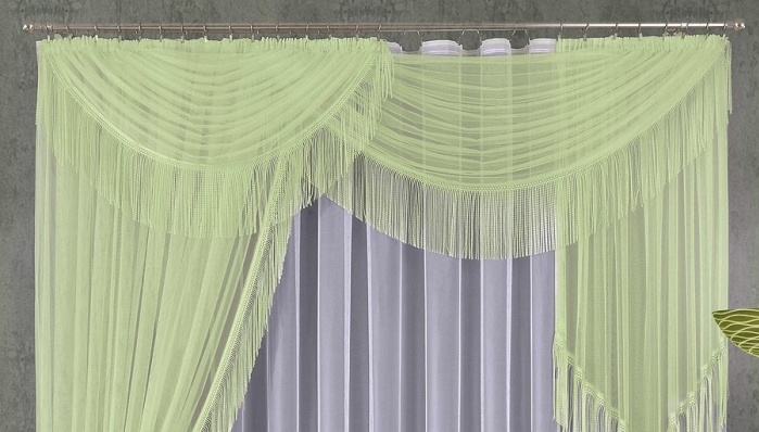 Светло зеленые шторы