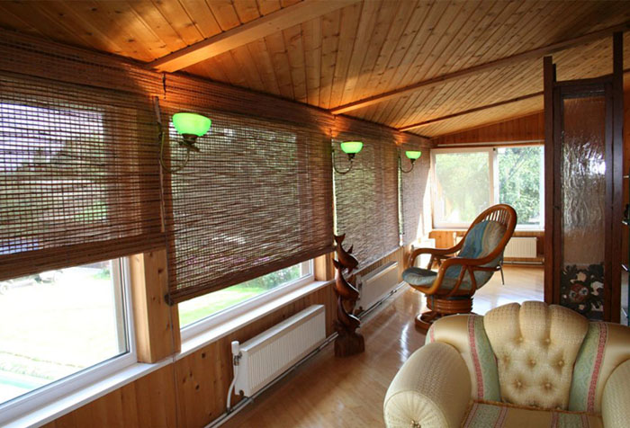 Бамбуковые рулонные шторы