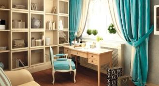 Как правильно подобрать и использовать в декоре комнаты шторы бирюзового цвета