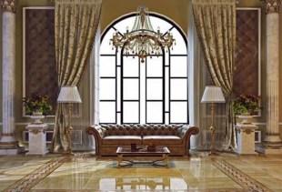 Завершаем дизайн зала при помощи современных штор