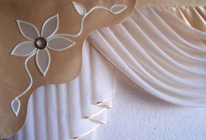 Деталь комбинированного ламбрекена
