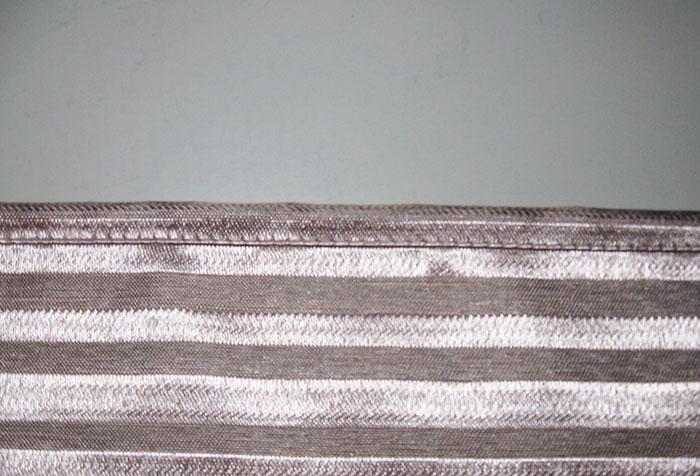 Обработка бокового края шторы