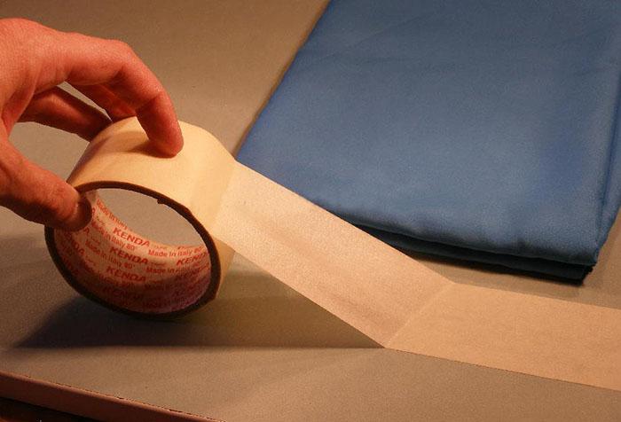 Подготовка рабочего места для работы с тюлем