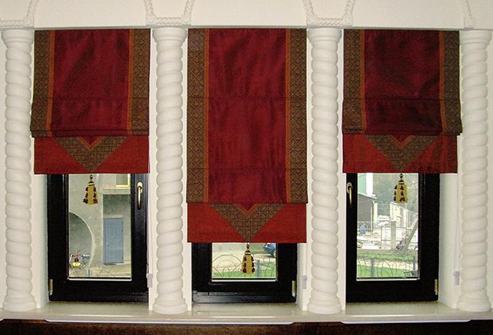 Римские шторы с кистями