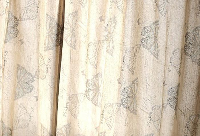 Льняная штора с рисунком