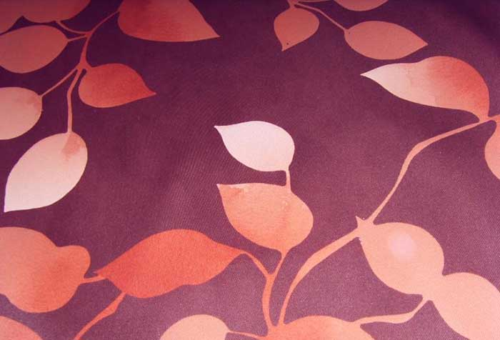 Рисунок на негорючей ткани