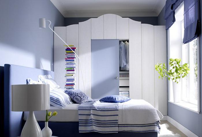 Спальня в синих тонах для мальчика