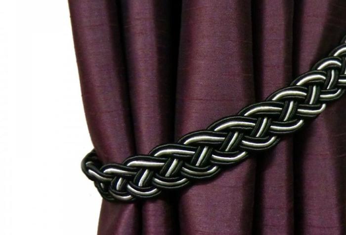 Плетеный подхват для шелковой портьеры