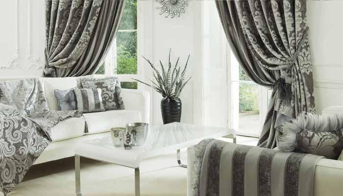 шторы серого цвета