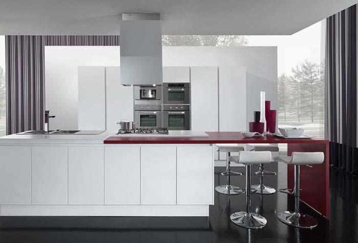 Портьеры на кухне в стиле хай-тек
