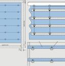 Схема конструкции римской шторы