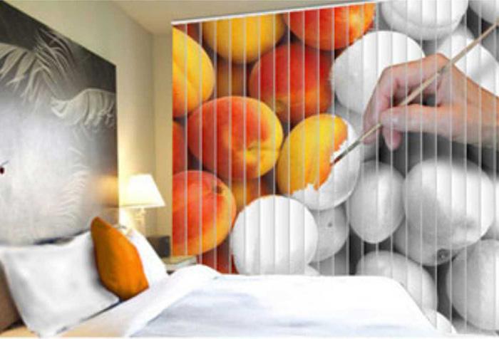 Фотожалюзи в спальне