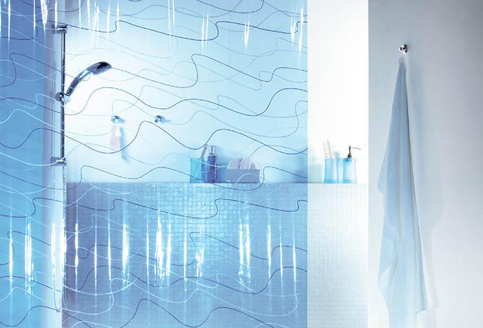Занавеска для ванной из полиэтилена