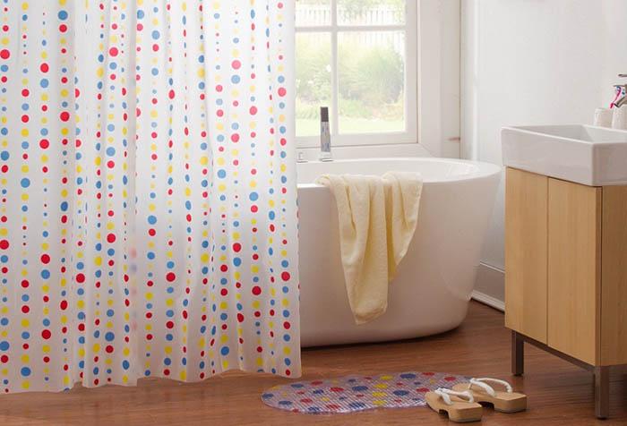 Виниловая занавеска для ванной