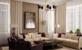 Классические шторы в современной гостиной