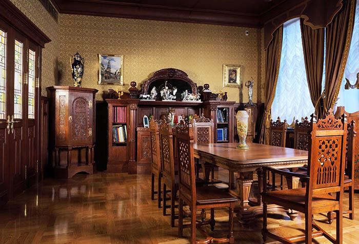 Интерьер столовой в стиле модерн (Ф. Шехтель)