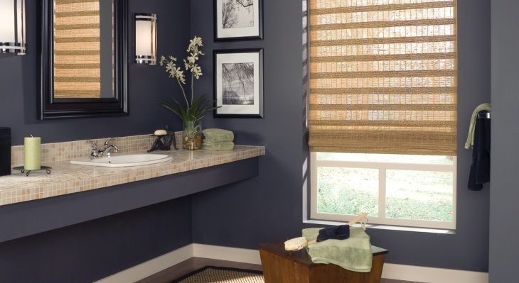 Бамбуковые занавески в дизайне ванной комнаты