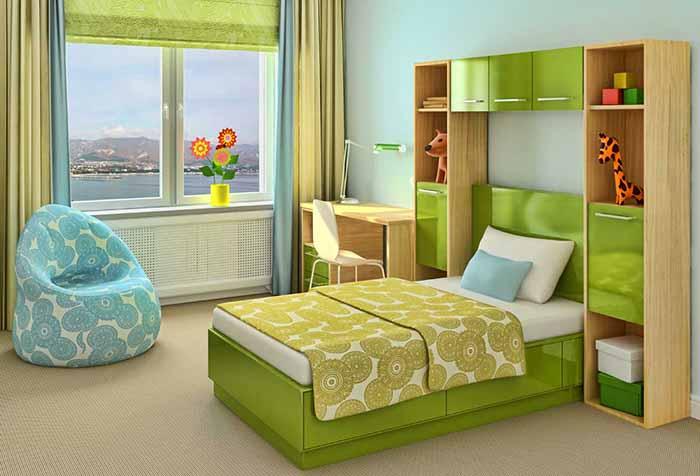 Двухцветные шторы в детскую