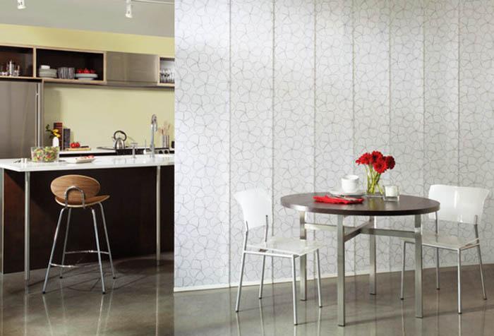 Японские панели в зонировании кухни