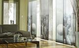Японские шторы из полупрозрачного полотна с рисунком