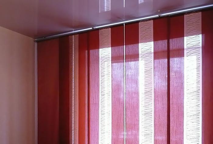 Японские шторы из разных материалов