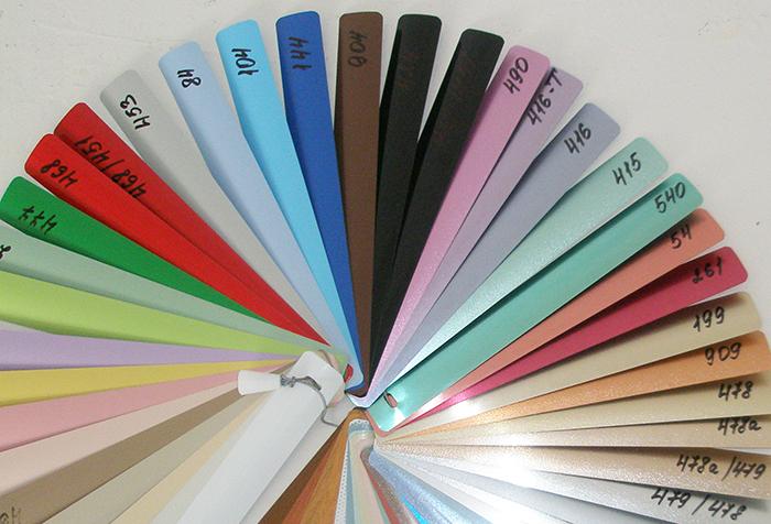 Выбор цвета ламелей горизонтальных жалюзи