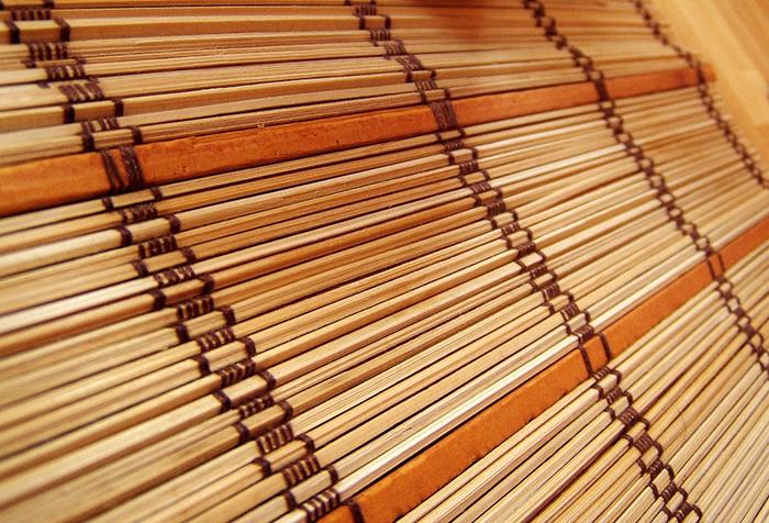 Текстура бамбуковой шторы-циновки