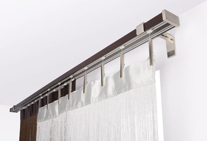 Современный карниз для штор в стиле хай-тек