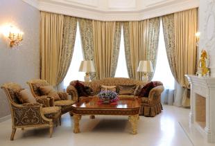 Шторы в классическом стиле в дизайне интерьера